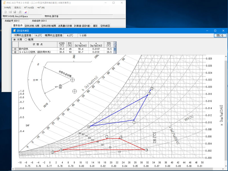 空調機器算定・換気量計算 IPAC-ACE 平成30年版