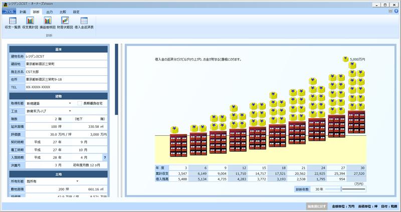 賃貸物件収支計算システム「オーナーズVision10」