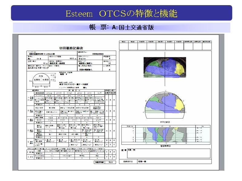 NATMトンネル切羽観察記録システム Esteem-OTCS