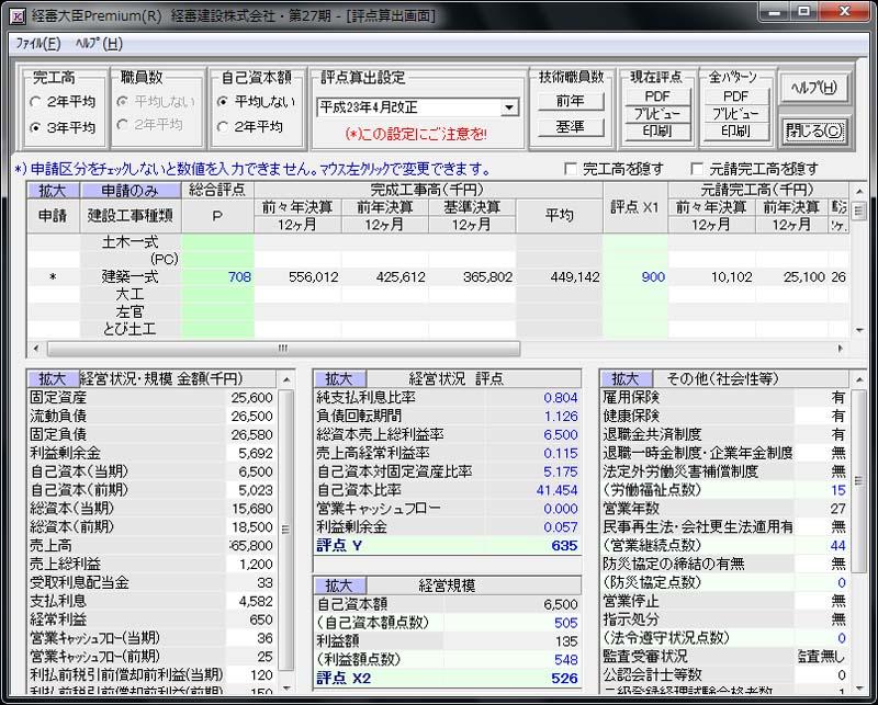 経審大臣Premium(R) Ver 7.0