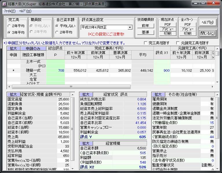 経審大臣(R)Super Ver 8.0
