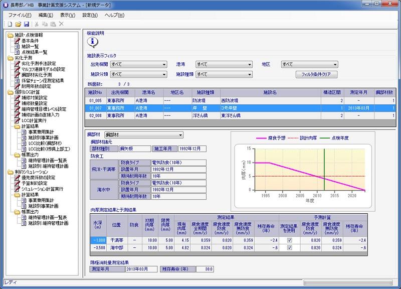長寿郎/HB 港湾施設の維持管理計画策定支援システム