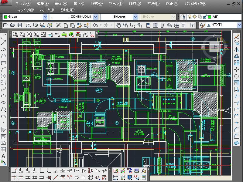 建築設備設計CAD EQ-II 「機械設備(空調・衛生)」