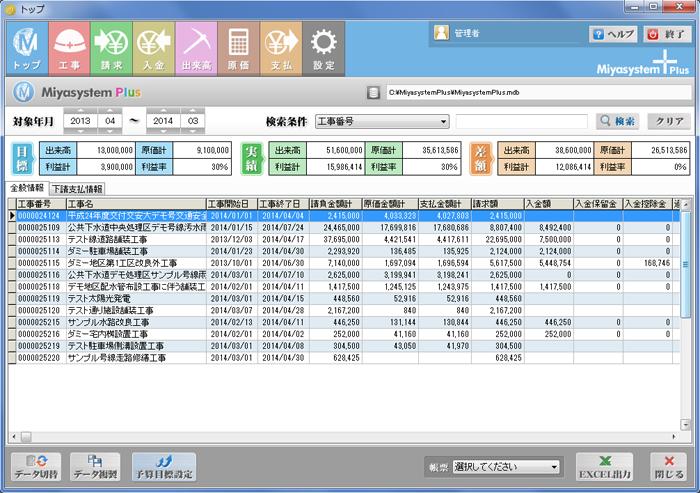 MiyasystemPlus入出金管理システム