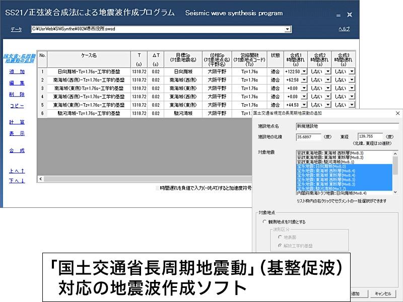 SS21/正弦波合成法による地震波作成プログラム
