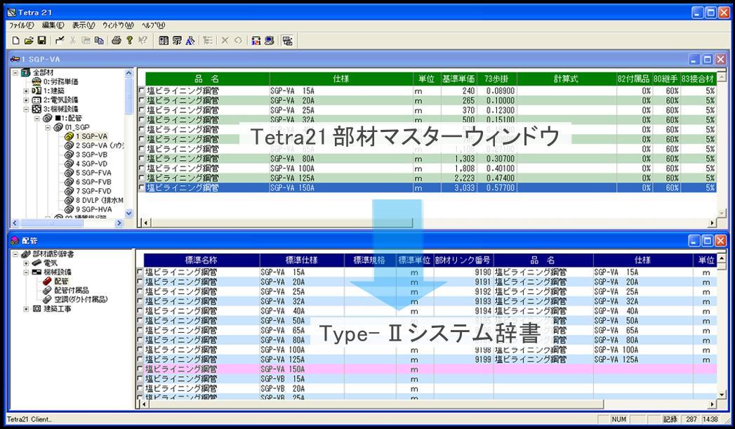 Tetra21オプション キーワードマッチングII(部材自動引当)